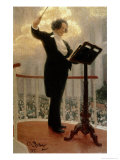 Portrait of the Russian Composer Anton Grigoryevich Rubinstein Giclee Print by Ilya Efimovich Repin