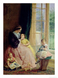 Mrs. Hicks, Mary, Rosa and Elgar Giclee Print by George Elgar Hicks