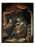 Dentist Examining the Tooth of an Old Man Giclee Print by Gerrit Dou