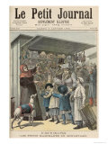 New Year's Day in Paris: The Little Stalls on the Boulevard, Cover of Le Petit Journal, 1892 Giclee Print by Henri Meyer