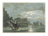 Island of Tortosa, in Syria, from Views in the Ottoman Dominions, 1810 Giclee Print by Luigi Mayer