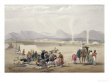 The City of Candahar, from Sketches in Afghaunistan, Engraved by Charles Haghe Giclee Print by James Atkinson