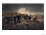 Hot Night in the Batteries, The Seat of War in the East, c.1856 Giclee Print by William Simpson