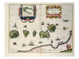 Map Showing the Molucca Islands Off Halmahera, 1640 Giclee Print by Joannes Jansson