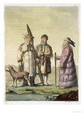 Alaskan Men and Women Dressed For Fishing Giclee Print by D.k. Bonatti