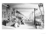Carding, Drawing and Roving, Engraved by J. Carter, 1842 Giclee Print by Thomas Allom