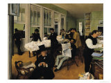 The Cotton Exchange, New Orleans, 1873 Giclee Print by Edgar Degas