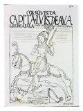 Captain Luis de Avalos Killing an Inca Giclee Print by Felipe Huaman Poma De Ayala