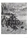 Lexington Green, Harper's Magazine, c.1883 Giclee Print by Howard Pyle