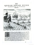 Expedition of Thomas Cavendish, from Americae, Written and Engraved by Theodore de Bry Giclee Print by Jacques Le Moyne