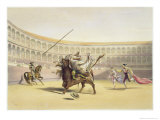 The Bull Tossing the Picador and Horse, 1865 Giclee Print by William Henry Lake Price