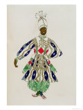 Costume For a Negro, from Aladdin, 1916 Giclee Print by Leon Bakst