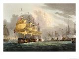 Destruction of Danish Fleet, Copenhagen, c.1801 Giclee Print by Thomas Whitcombe