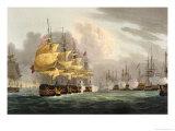 Destruction of Danish Fleet, Copenhagen, c.1801 Giclee Print by Thomas Whitcombe