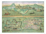 Map of Candia and Corfu, from Civitates Orbis Terrarum by Georg Braun Giclee Print by Joris Hoefnagel
