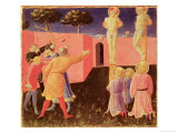 The Crucifixion and Stoning of SS. Cosmas and Damian, Predella from the Annalena Altarpiece, 1434 Giclee Print by  Fra Angelico