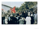 Meeting at the Mur Des Federes - Pere Lachaise, 1883 Giclee Print by Ilya Efimovich Repin