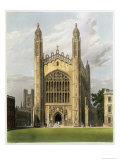 West End of Kings College Chapel, Cambridge, The History of Cambridge, Engraved Daniel Havell Giclee Print by Frederick Mackenzie