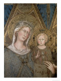 Maesta, Detail of the Madonna and Child, 1315 Giclee Print by Simone Martini