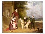 Portrait of George Granville Leveson-Gower and His Family Giclee Print by Thomas Phillips