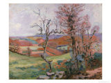 The Puy Barion at Crozant, Brittany Giclee Print by Armand Guillaumin