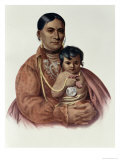 Do-Hon-Go, an Osage Woman, the Indian Tribes of North America, Vol.1 Giclee Print by Charles Bird King