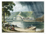 La Roche, from Views on the Seine, Engraved by Thomas Sutherland Giclee Print by John Gendall
