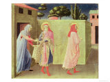 The Healing of Palladia by Ss. Cosmas and Damian, Predella from the Annalena Altarpiece, 1434 Giclee Print by  Fra Angelico