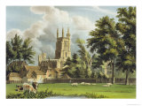 Winchester College from the Meadow, History of Winchester College, Engraved by Stadler Giclee Print by William Westall