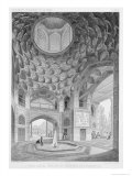 Pavilion of the Eight Paradises, in Isfahan, Voyage Pittoresque of Persia, Engraved by H.Lecoq Giclee Print by Pascal Xavier Coste