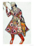 Costume Design For the Tsarevitch, from the Firebird Giclee Print by Leon Bakst