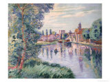 The Old Samois, c.1900 Giclee Print by Armand Guillaumin