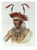 L'Ietan, Oto Half-Chief, 1821, The Indian Tribes of North America, Vol.1 Giclee Print by Charles Bird King