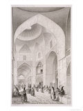 Cloth Market, in Isfahan, from Voyage Pittoresque of Persia, Engraved by Claude Sauvageot Giclee Print by Pascal Xavier Coste