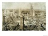 Across Siena, Fragments d'Architecture du Moyen Age et de La Renaissance, Engraved Chauvet Giclee Print