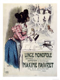 Poster Advertising Linge Monopole Anti-Whitening Product, c.1895 Giclee Print by Roedel 