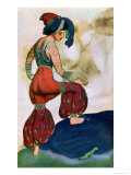 Costume Design For the Red Sultan, from Sheherazad Giclee Print by Leon Bakst