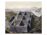 Remains of an Inca Palace at Callo, Peru, Le Costume Ancien ou Moderne, c.1820-30 Giclee Print by Paolo Fumagalli