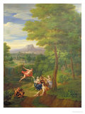 Classical Landscape with Mercury Overseeing the Birth of Bacchus Giclee Print by Peter Rysbrack