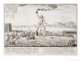 The Colossus of Rhodes, from, Entwurf Einer Historischen Architektur, 1721 Giclee Print by Johann Bernhard Fischer Von Erlach