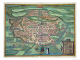 Map of Metz, from Civitates Orbis Terrarum by Georg Braun Giclee Print by Joris Hoefnagel