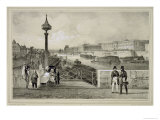 Le Louvre, Engraved by Auguste Bry Reproduction proc&#233;d&#233; gicl&#233;e par Jean Jacottet