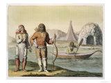 Eskimos at Hudson Bay, Le Costume Ancien ou Moderne, Vol.I, Plate 23 Giclee Print by G. Bramati