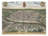 Map of Seville, from Civitates Orbis Terrarum by Georg Braun Giclee Print by Joris Hoefnagel