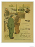 Reproduction of a Poster Advertising 'L'Escarmouche', a Weekly Illustrated Journal, 1893 Giclee Print by Henri Gabriel Ibels