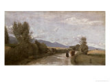 Dardagny, Morning, c.1853 Giclee Print by Jean-Baptiste-Camille Corot