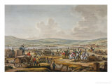 Napoleon Visiting the Siege Works at Danzig Led by Marshal Le Febvre, 1807, Engraved Dequevauviller Giclee Print by Jacques Francois Joseph Swebach