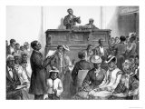 American Sketches: A Negro Congregation at Washington, The Illustrated London News, 1876 Giclee Print