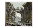The Rock Bridge, Virginia, Le Costume Ancien ou Moderne, c.1820-30 Giclee Print by Paolo Fumagalli