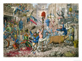 The Promised Horrors of the French Invasion, 1796 Giclee Print by James Gillray